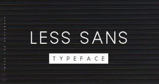 less sans font 310x165 - Less Sans Minimal Typeface Free Download