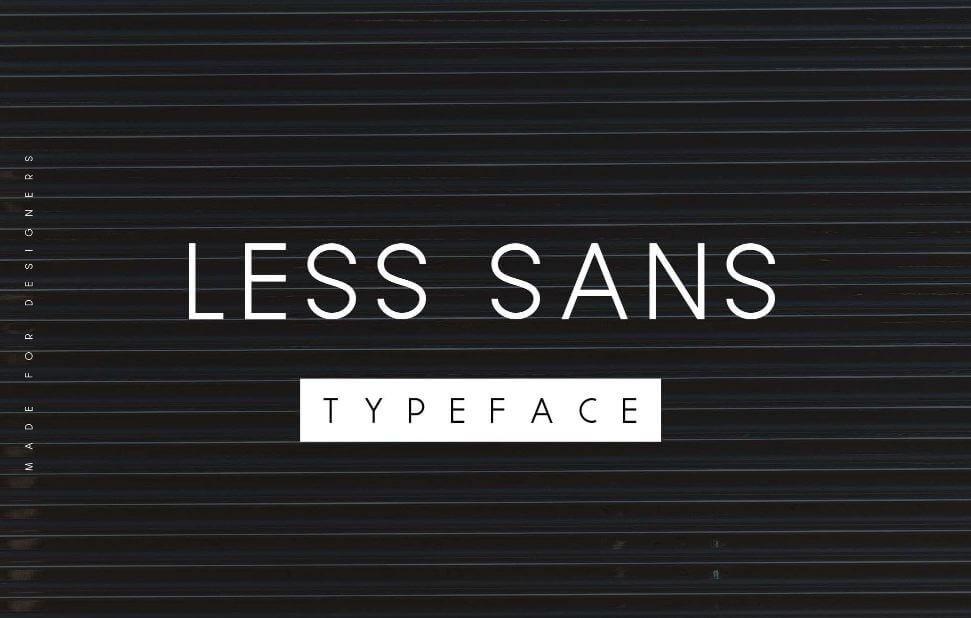less sans font - Less Sans Minimal Typeface Free Download
