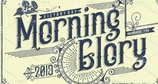 morning glory font 310x165 - Morning Glory Font Free Download