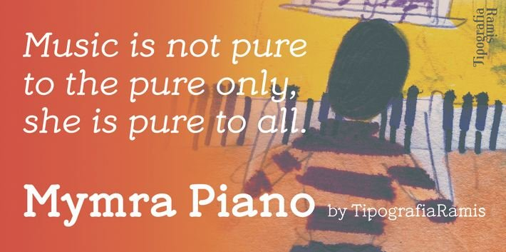 mymra font - Mymra Piano Font Free Download