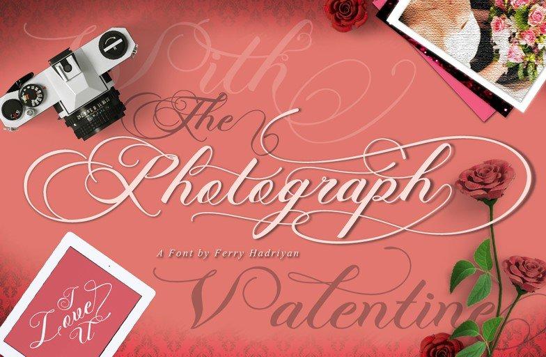 photgraphy script font - Photograph Script Wedding Font Free Download