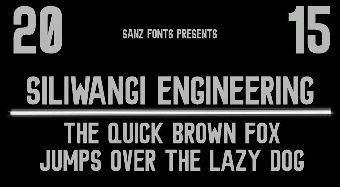 siliwangi engineering font - Siliwangi Engineering Font Free Download