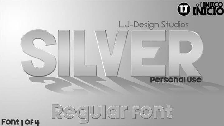 silver font - Silver Forte Font Free Download