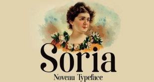 soria typefaces 310x165 - Soria Font Free Download