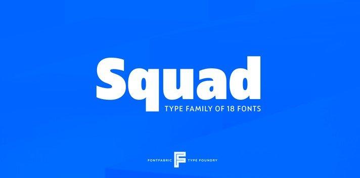 sqaud font - Squad Font Free Download