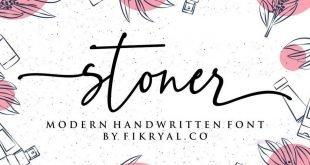 stoner script font 310x165 - Stoner Script Font Free Download