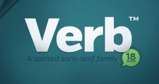 verb font 310x165 - Verb Font Free Download