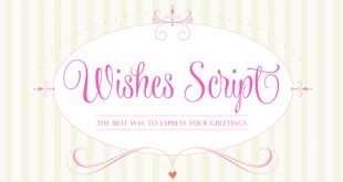 wishes script font 310x165 - Wishes Script Font Free Download