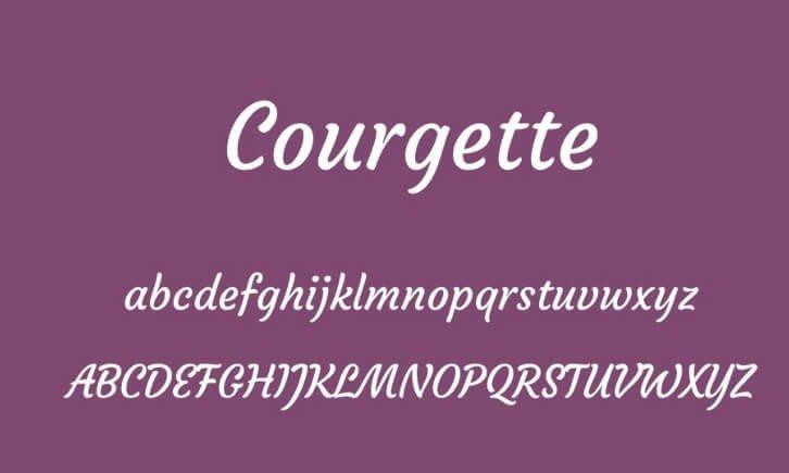 Courgette Font