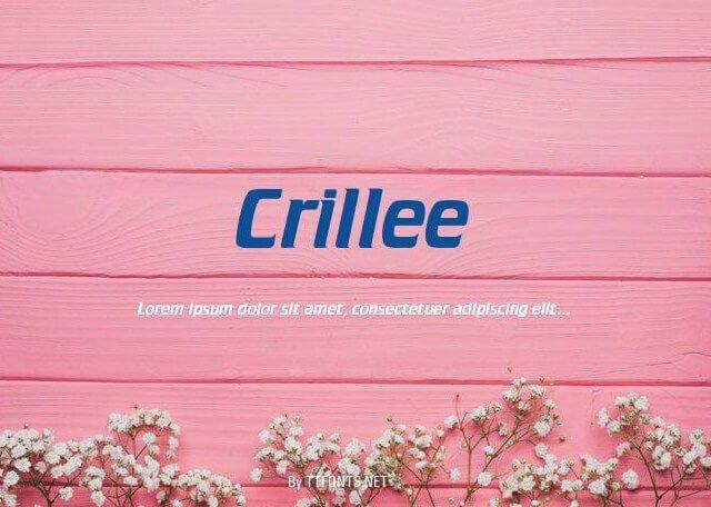 Crillee Font