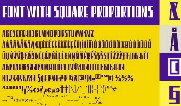 Eleventh Square Font