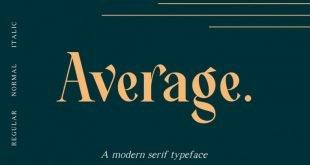 average font 310x165 - Average Font Free Download