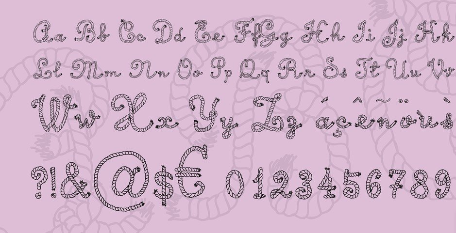 calligraphy rope - Calligraphy Rope Font Free Download
