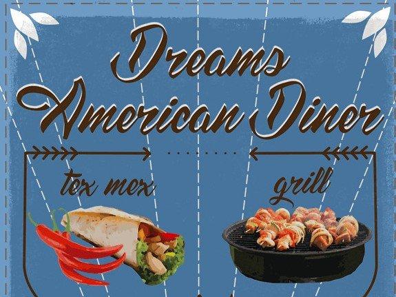 dream american - Dream American Diner Font Free Download