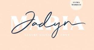 jadyn 310x165 - Jadyn Maria Signature Font Free Download