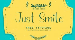 just smile 310x165 - Just Smile Typeface Free Download