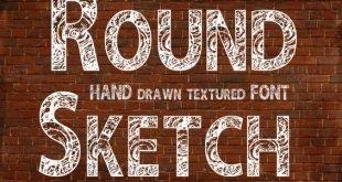round font 310x165 - Round Sketch Font Free Download