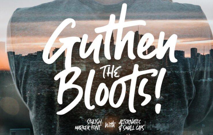 Guthen Bloots Allcaps Font