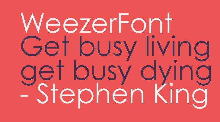 Weezer Font