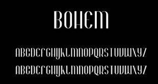Bohem font