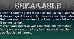 Breakable font