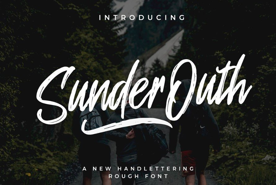 sunder outh font - Sunder Outh Brush Font Free Download
